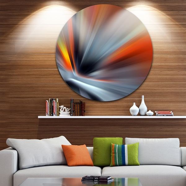 Designart 'Rays of Speed Lines' Abstract Digital Art Disc Metal Wall Art 23693667