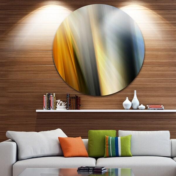 Designart 'Rays of Speed Vertical' Abstract Digital Art Round Wall Art 23693839
