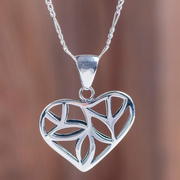 Handmade Sterling Silver 'Nature of Love' Necklace (Peru) 23693964