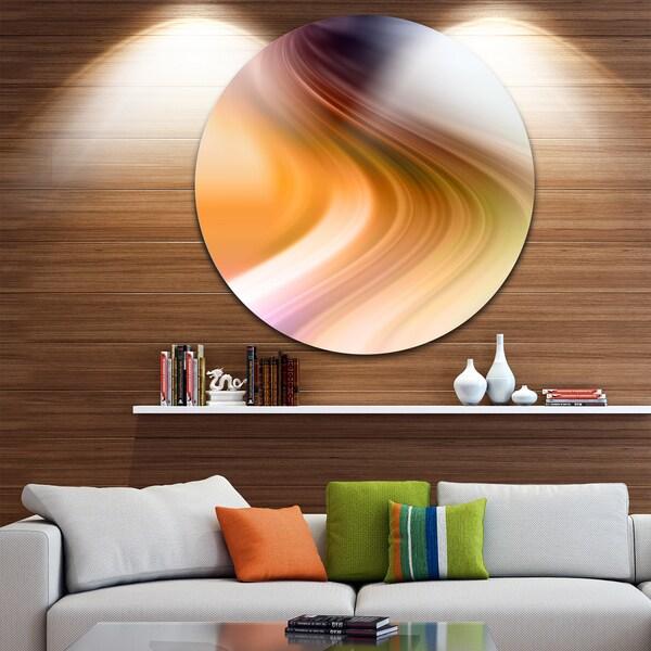 Designart 'Rays of Speed Green Orange' Abstract Digital Circle Wall Art 23694085