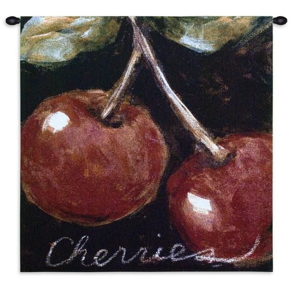 Fine Art Tapestries 'Ripe Cherries' Wall Tapestry 23697271