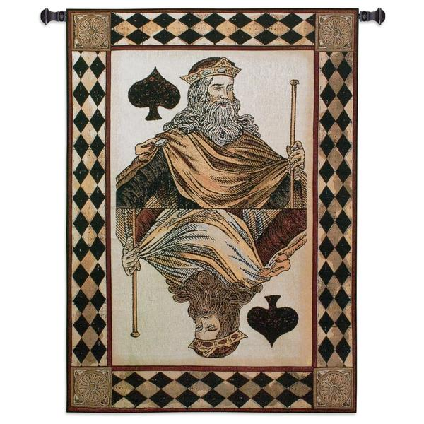 Fine Art Tapestries King Spades Cotton Wall Tapestry 23697723