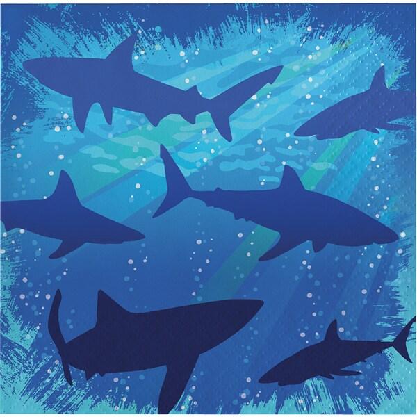 Shark Splash 3-ply Beverage Napkins (12 Sets of 16)
