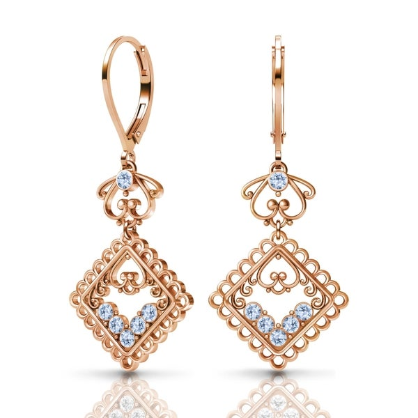 Sterling Silver Earrings by Lucia Costin Swarovski Element Crystals 23705844