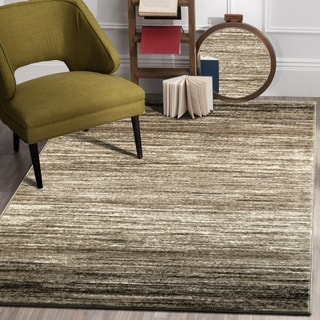 "LR Home Matrix Gobi Ombre Light Beige/ White Olefin Rug - 7'9"" x 9'5"""