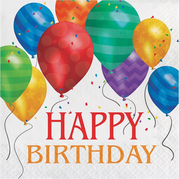Balloon Blast Happy Birthday Lunch Napkins (Case of 192) 23715998