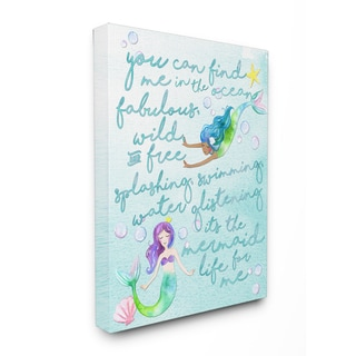 Mermaid Life For Me' Painting Stretched Canvas Wall Art