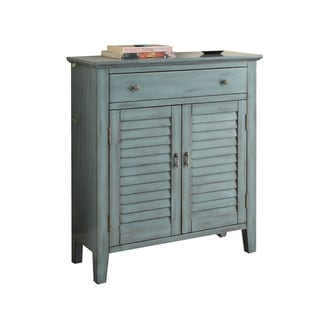 Acme Furniture Winchell Antique Blue Wood Console Table