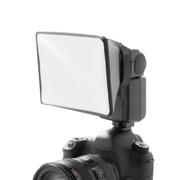 Insten Foldable Lightweight Camera External Flash Diffuser for Harsh Shadow Reduce/ Eliminates Red Eye 23779469