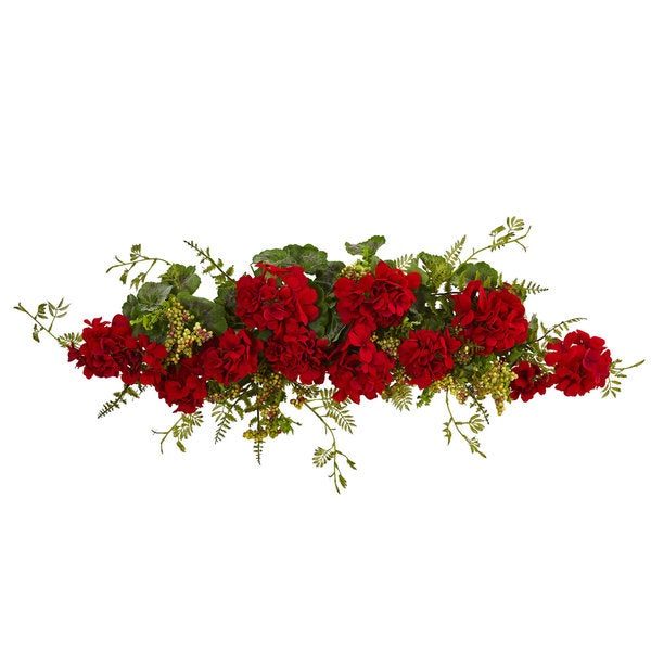 Nearly Natural 32-inch Faux Geranium and Berry Swag 23780755