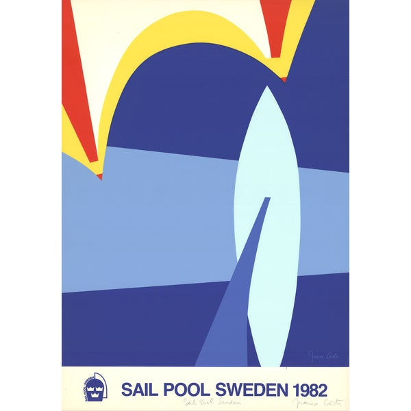 Franco Costa 'Sail Pool Sweden-1982' 37.25 x 27.5-inch Signed Serigraph 23780837