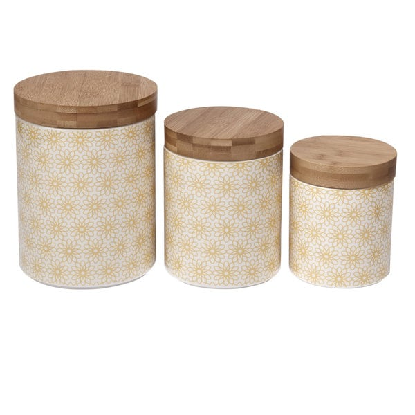 Certified International Daisy Dots 3-piece Canister Set 23782018