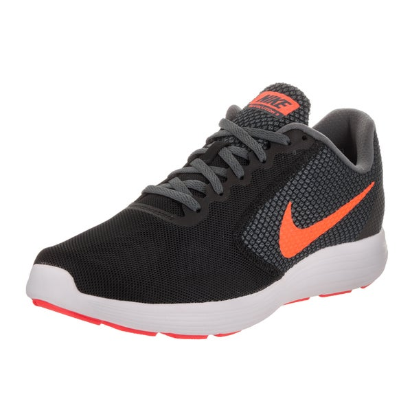Nike Men's Revolution 3 Black Mesh Running Shoe 23784936