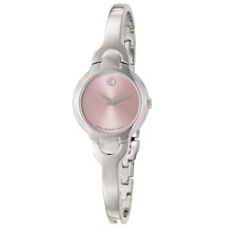 Movado Women's Kara Pink Dial Steel Watch