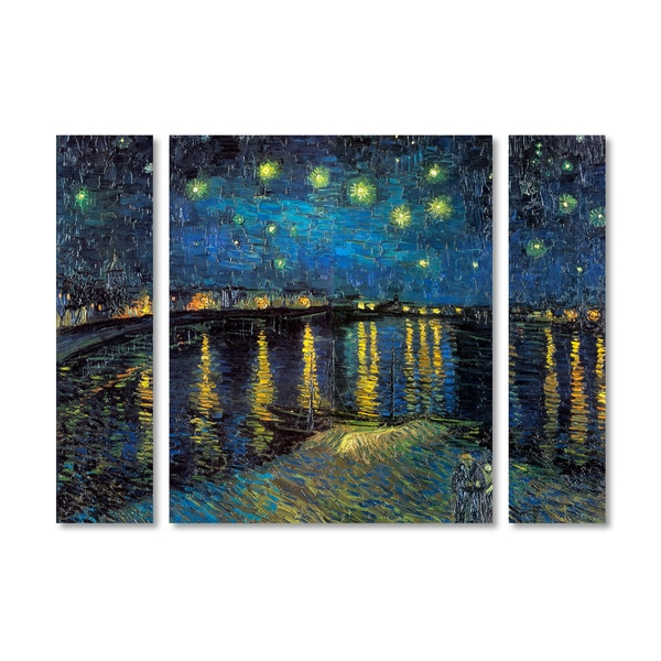 Vincent van Gogh 'The Starry Night II' Multi Panel Art Set 23814488