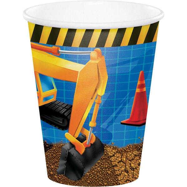 Under Construction 9-ounce Cups (Case of 12 packages of 8) 23818976