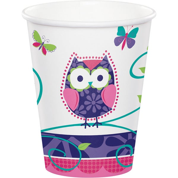 Owl Pal Paper 9-ounce 8-count Cups (Case of 12 packages) 23819000