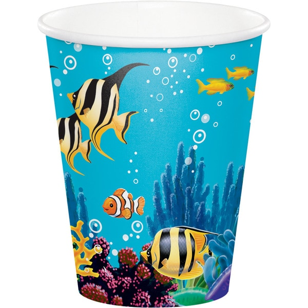 Ocean Party Multicolored Disposable 9-ounce Cups (Case of 12 Packages of 8) 23819127