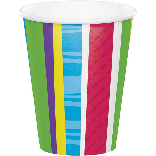 Bright and Bold Paper 9-ounce Cups (Case of 12 Packs, 8 Each) 23819231