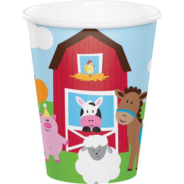 Farmhouse Fun 9-ounce Paper Cups (12 Sets of 8) 23819245