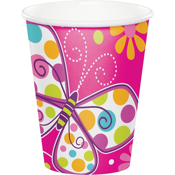 9-ounce Butterfly Sparkle Cups (Case of 96) 23819249