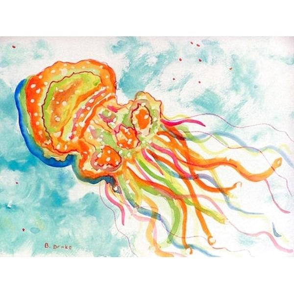 Orange Jellyfish Place Mat Set of 4 23826199