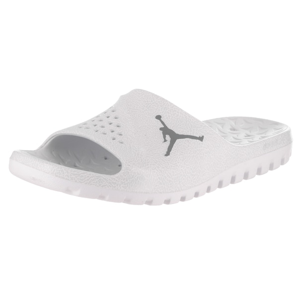 Nike Jordan Men's White Super.Fly Team Slide 2 Graphic Sandals 23832861
