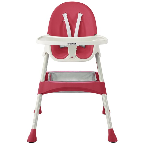 Dream on Me Raspberry Jackson Pink Plastic Highchair 23835437
