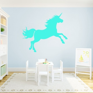 "Unicorn Silhouette Vinyl Wall Decal (48"" x 42"")"