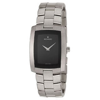 Movado Eliro Men's Black Dial Steel Watch