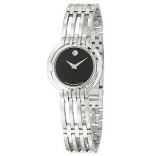 Movado Women's 0605098 Esperanza Black Dial Watch