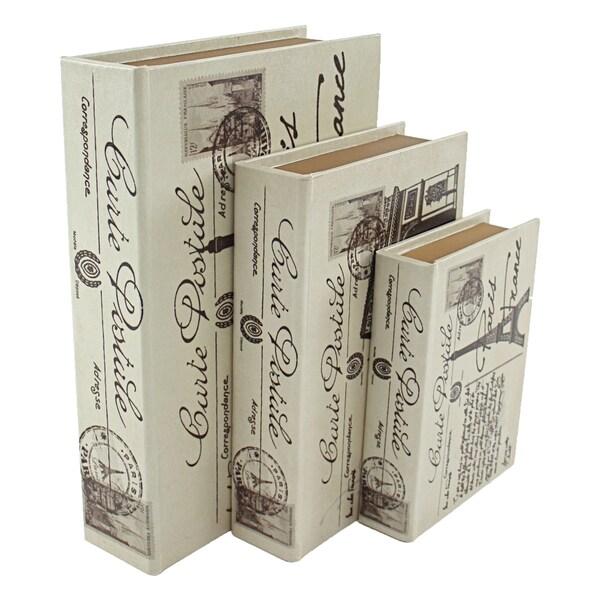 Paris Faux Book Boxes (Set of 3) 23863497