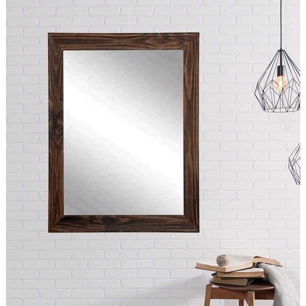 Multi Size American Value Walnut Brown Wall Mirror 23866824