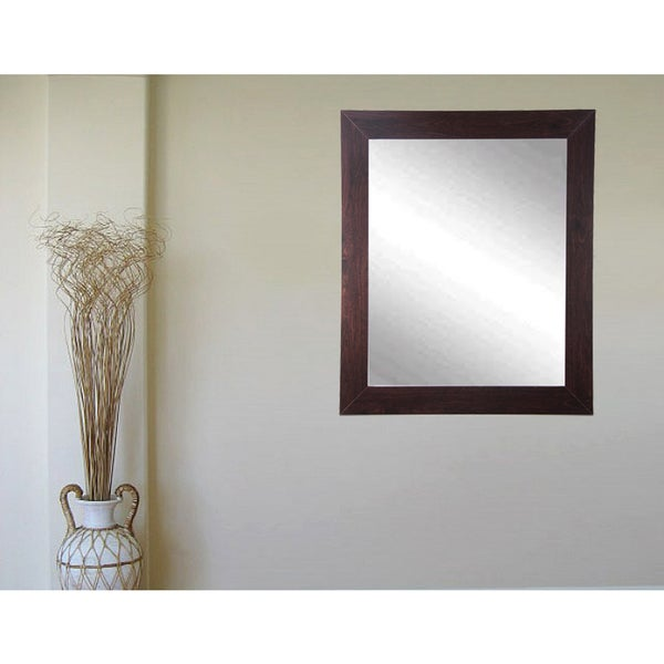 Multi Size Walnut Showroom Vanity Wall Mirror - Brown 23866851