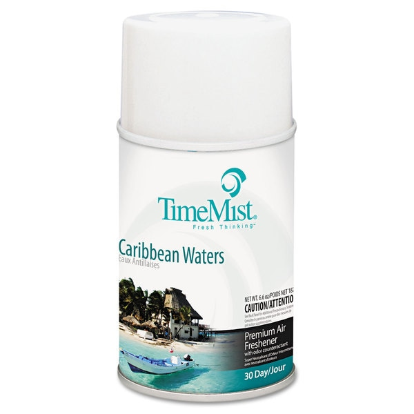 TimeMist Metered Fragrance Dispenser Refill Caribbean Waters 6.6-ounce Aerosol, 12/Carton 23867910