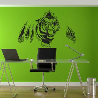 Full Color Tiger Huge Wall Sticker, Tiger Wall Decal, Wall Art, Tiger Wall Decor Sticker Decal size 22x30 23868203