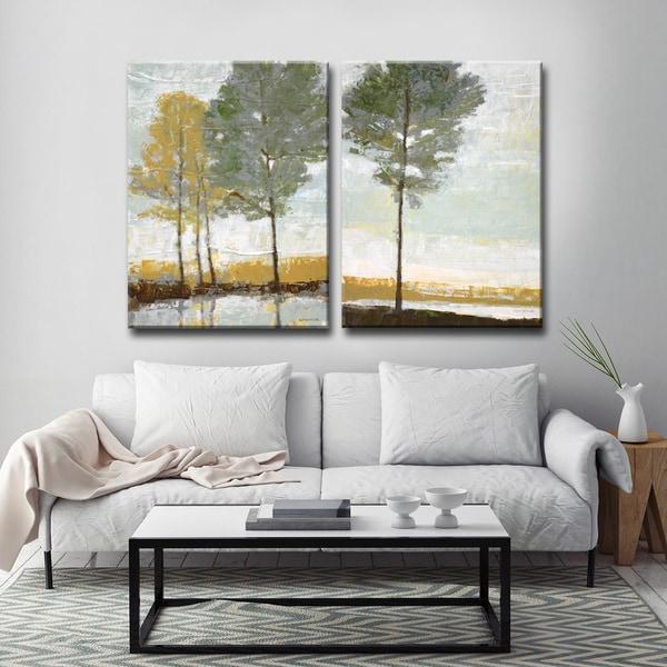 Ready2HangArt 'Lakeside View I/II' by Norman Wyatt, Jr. Canvas Art 23868973