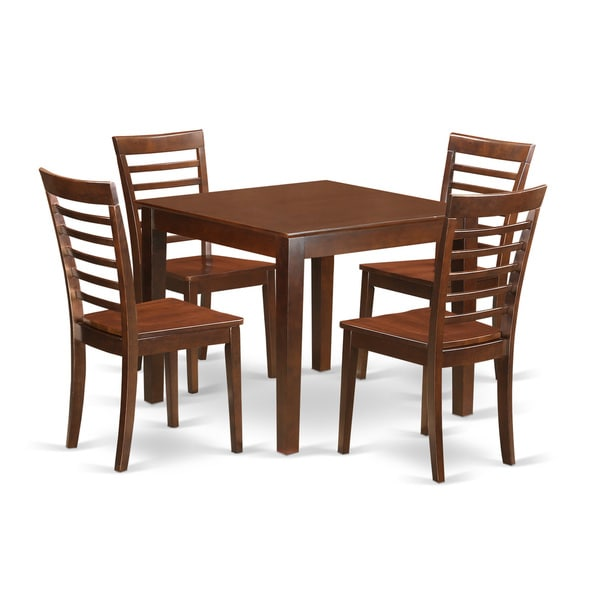 OXML5-MAH-C 5-Piece Dinette table set with one Oxford dining table and four dining chairs in Mahogany Finish 23884997