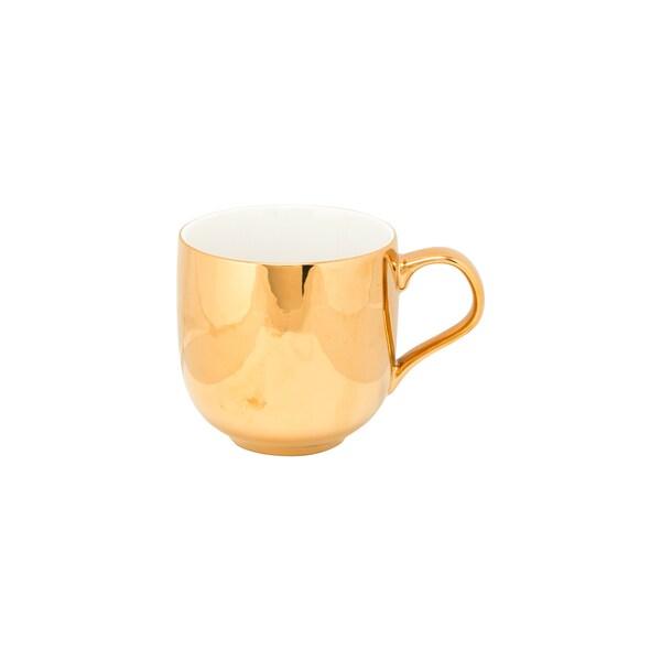10 Strawberry Street 2-tone White and Gold Porcelain Mugs (Set of 6) 23885284