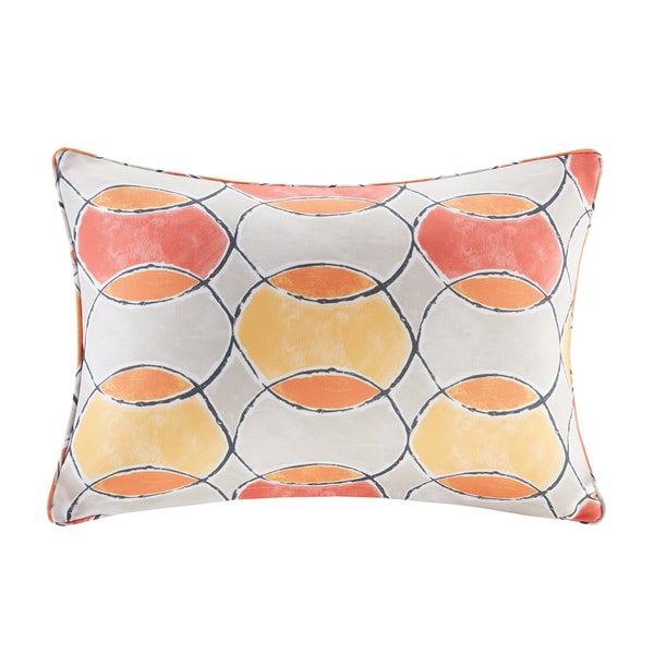 Madison Park Cayucos Printed Circles 3M Scotchgard Indoor/Outdoor Oblong Pillow 2 Color Option 23885504