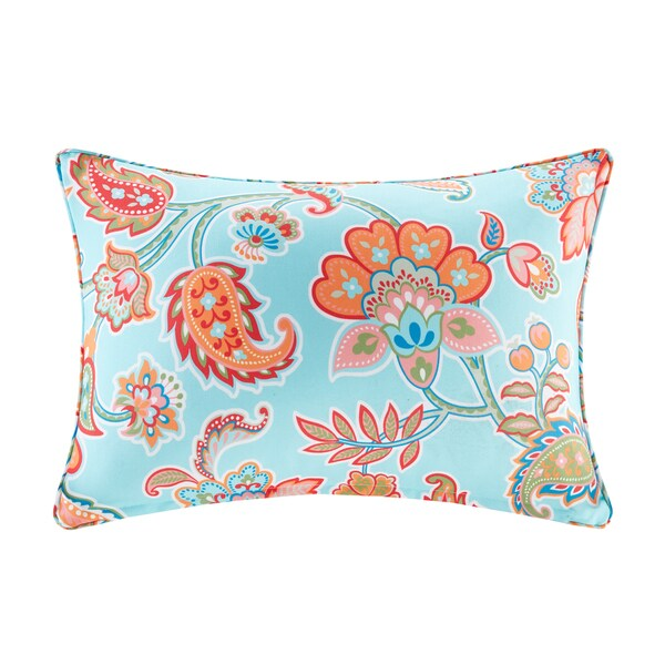 Madison Park Cambria Printed Floral 3M Scotchgard Indoor/Outdoor Oblong Pillow 3 Color Option 23888902