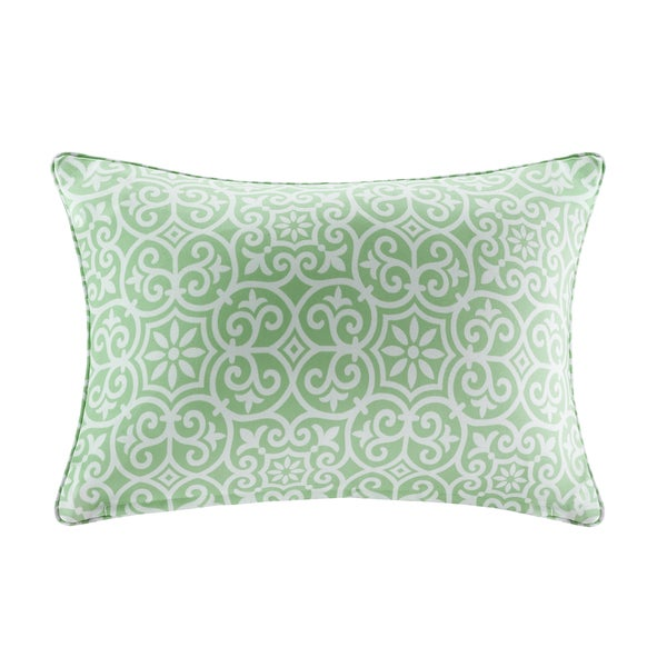 Madison Park Morro Printed Fret 3M Scotchgard Indoor/Outdoor Oblong Pillow 4 Color Option 23889010