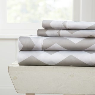 Merit Linens 4-piece Premium Ultra Soft Arrow Pattern Bed Sheet Set
