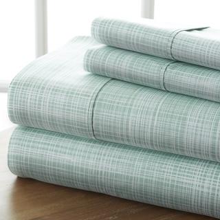 Merit Linens 4-piece Premium Ultra Soft Thatch Pattern Bed Sheet Set