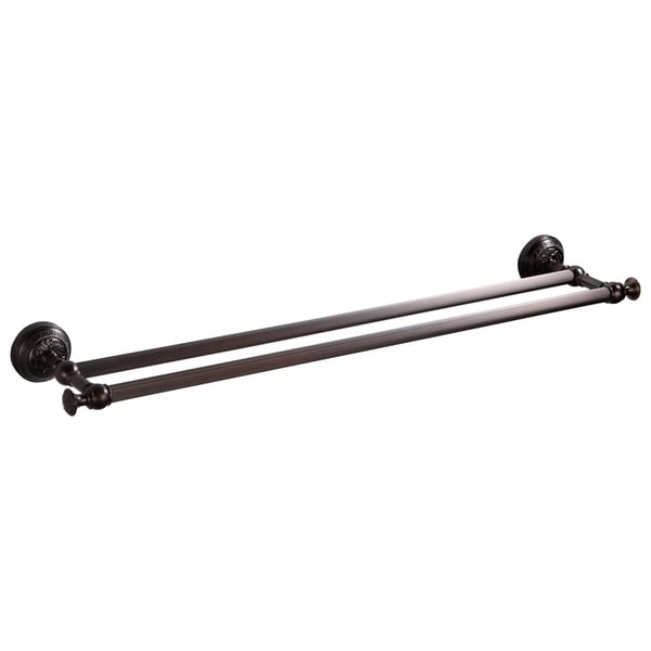 Ghent Oil Rubbed Bronze Finish Brass 24-inch Double Towel Bar 23891031