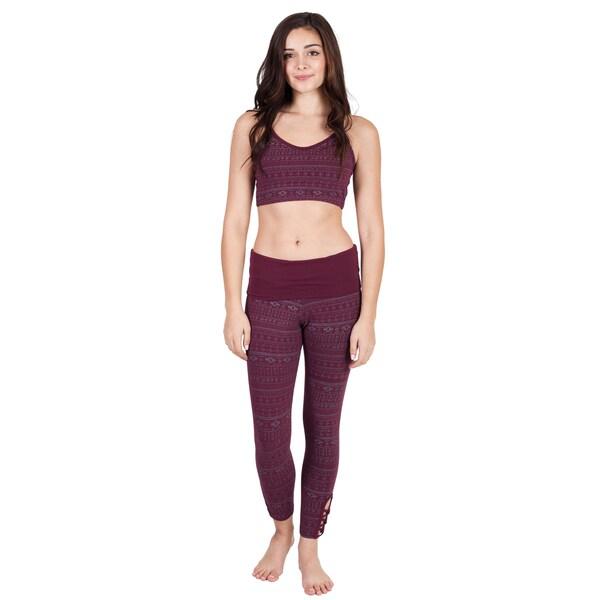 Handmade Women's Native Print Long Yoga Pants (Nepal) 23891912