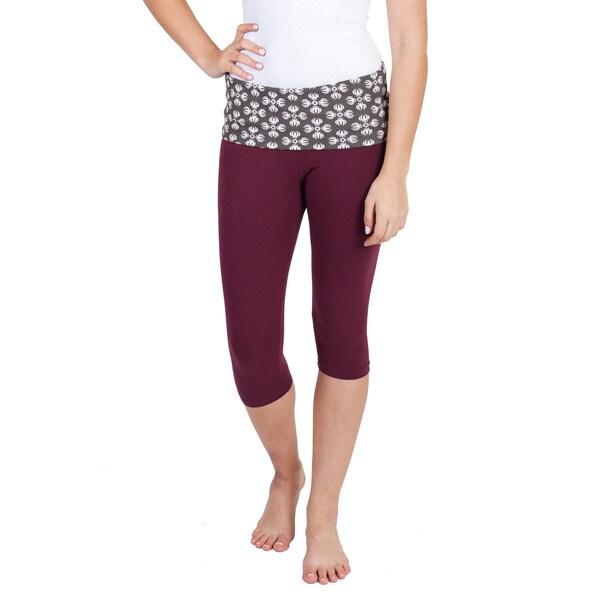 Handmade Women's Native Print Capri Workout Yoga Pants (Nepal) 23891924