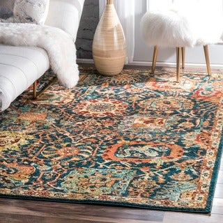 nuLOOM Traditional Oriental inspired Floral Area Rug