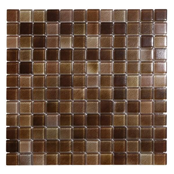 Hi-Fi 1 x 1 Square Glass Mosaic Tile Sheets (Pack of 5) 23930508