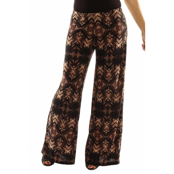 24/7 Comfort Apparel Glamour Goes Anywhere Wide Leg Pants 23934969